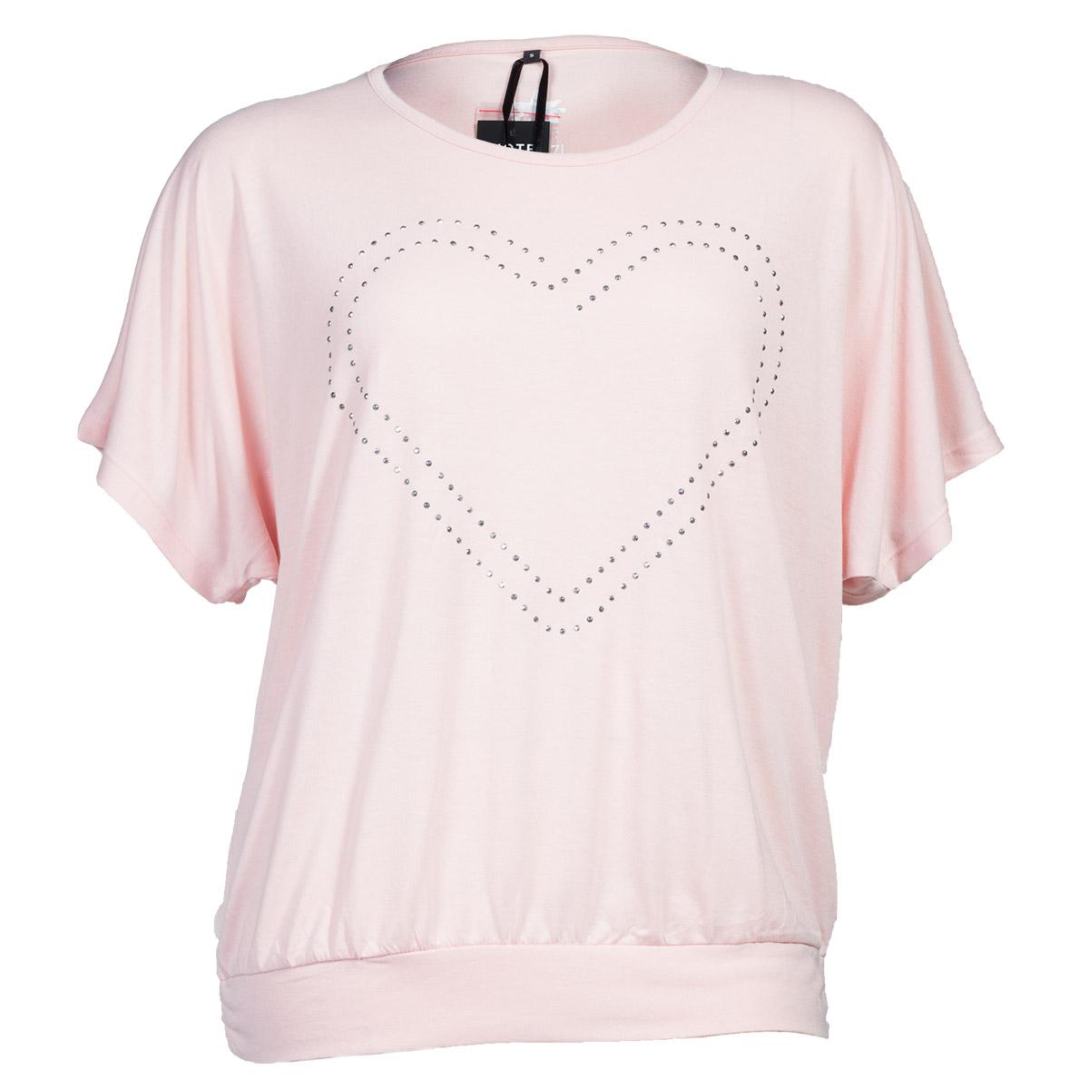 Lyserød t-shirt med hjerte