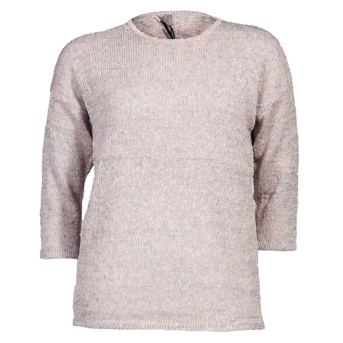 Rosa/ grå strik pullover