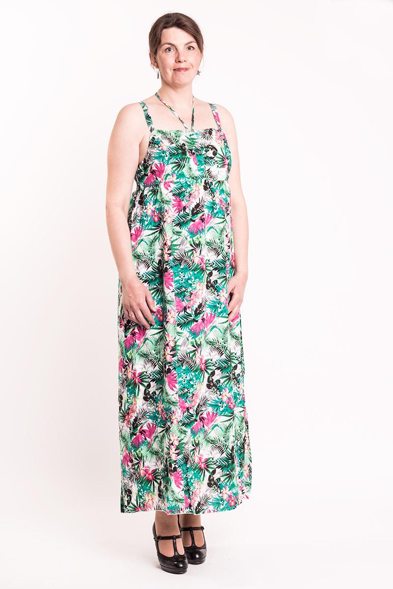 Maxi kjole med flot blomster print