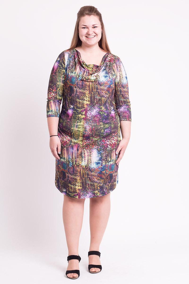 Super flot kjole i multiprint
