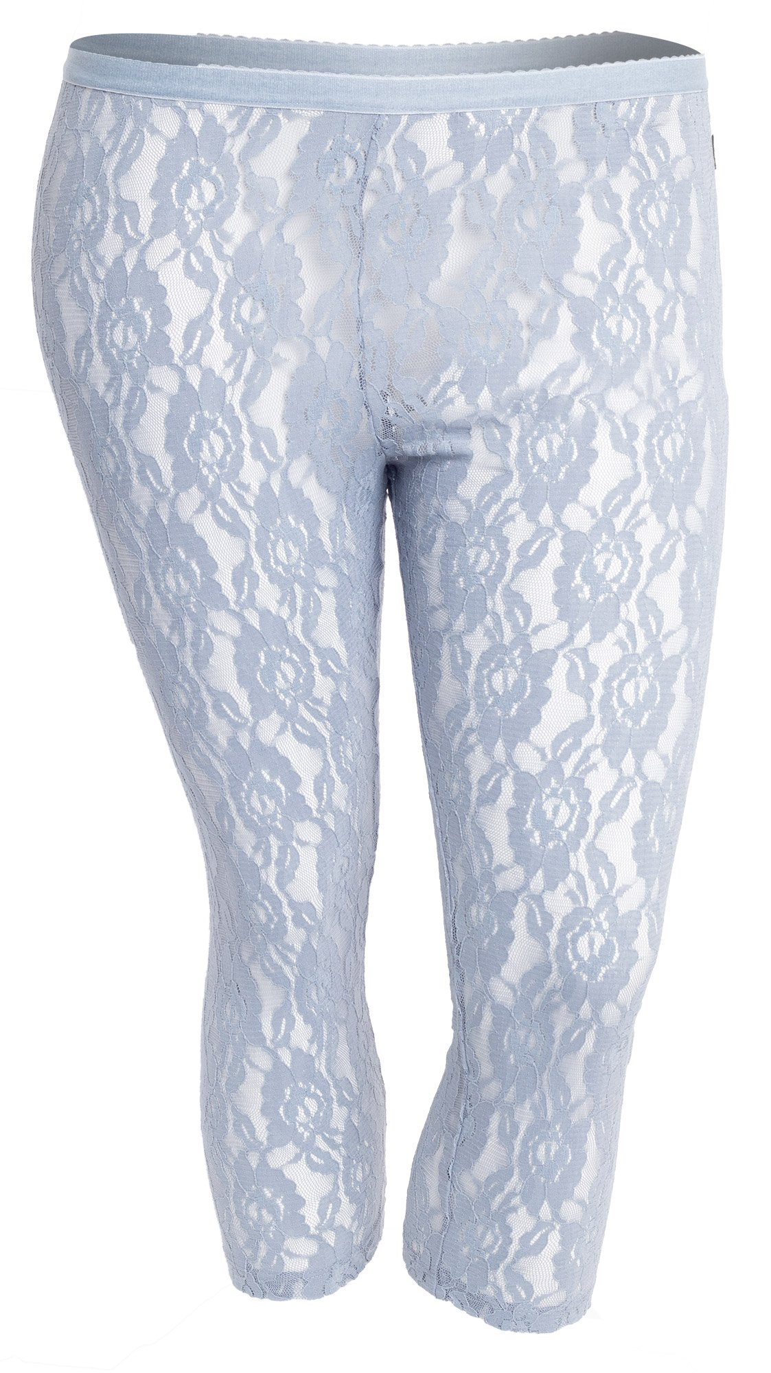 Elegante blonde leggings i 3/4 længde