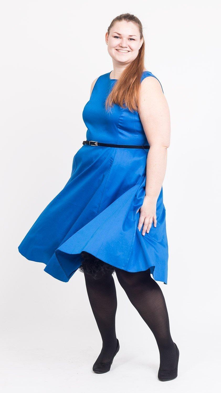 Blank kongeblå kjole