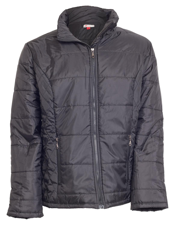 Kort sort vatteret jakke med quiltet look