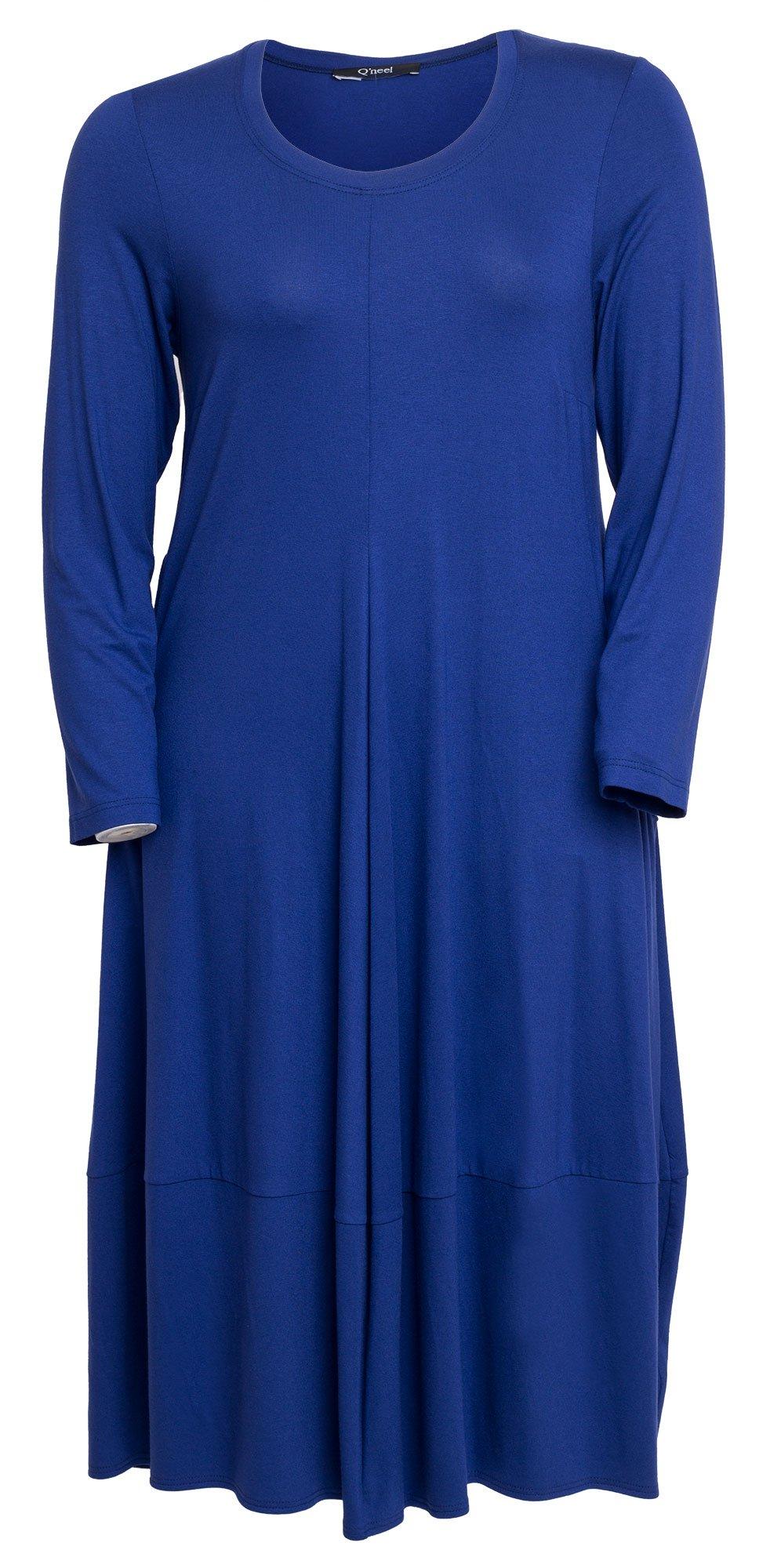 Lang lilla kjole med lommer