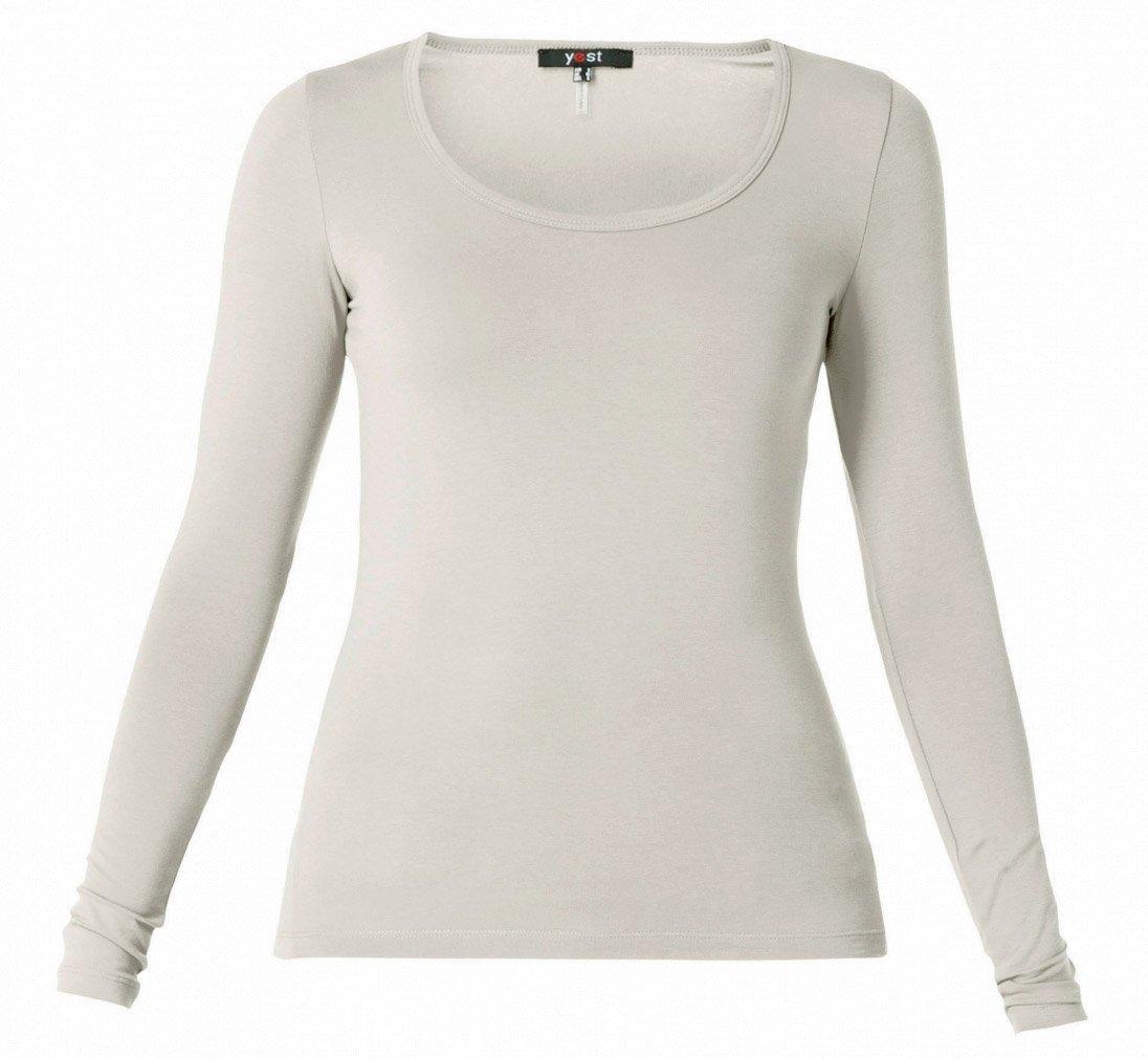 Sølv grå t-shirt med lange ærmer
