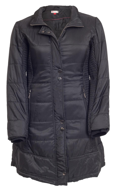Lang sort vatteret frakke