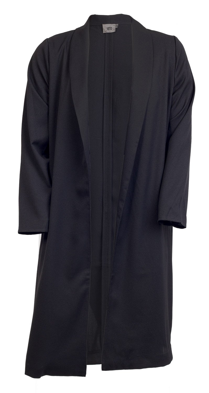 Lang sort blazer / habit jakke fra veto