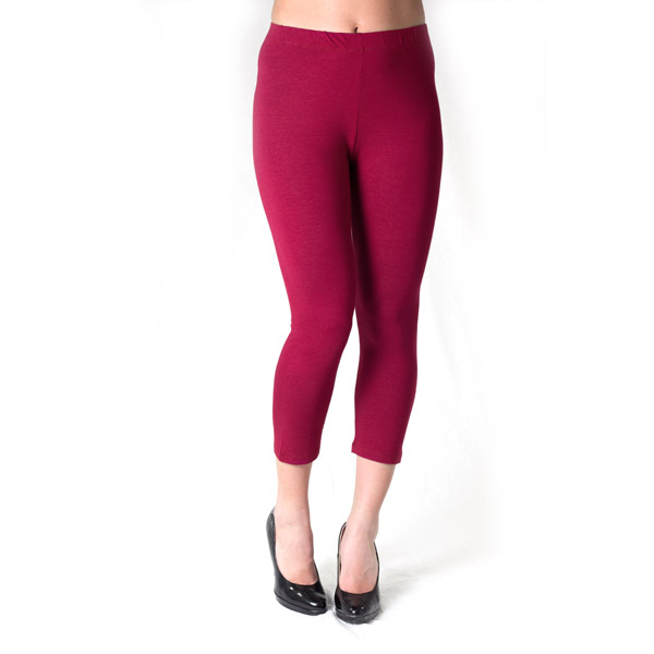 Bordeaux capri leggings