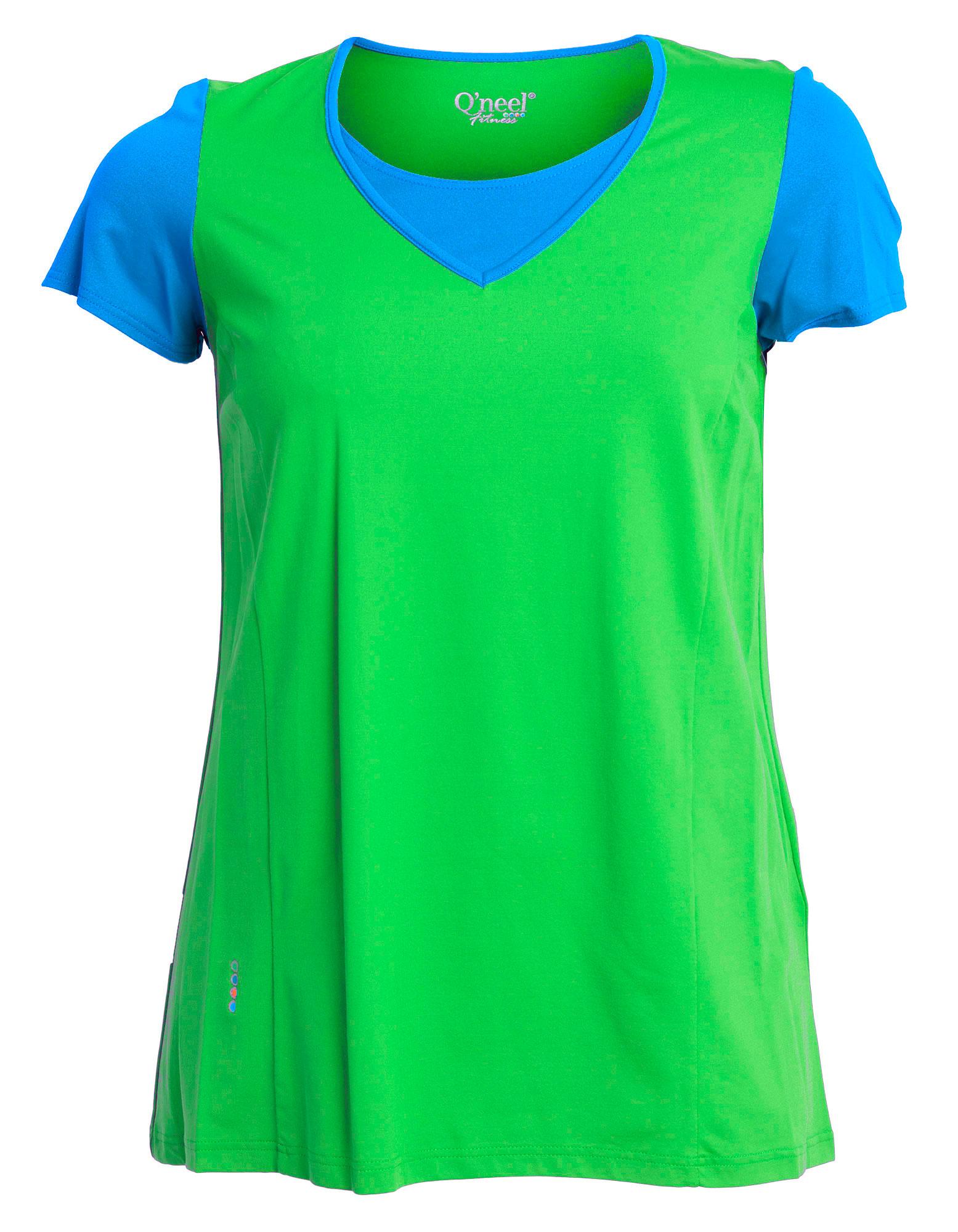 Firness bluse i blå og grøn