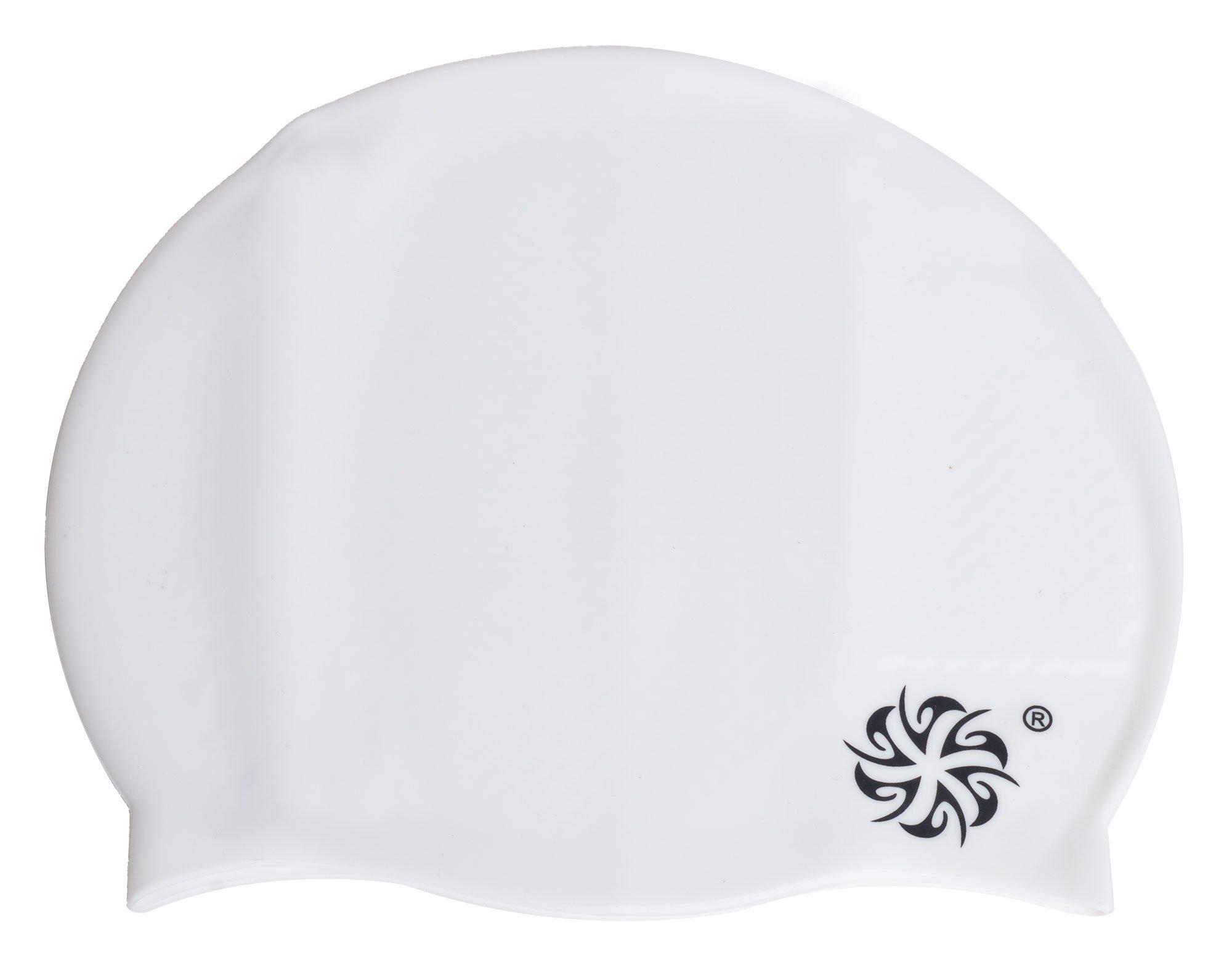 Mirou Badehætte i sporty look hvid, One Size