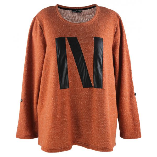 Støvet orange sweatshirt med n