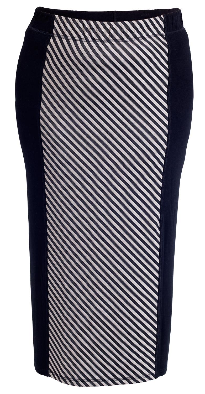 Nederdel sort med mønster
