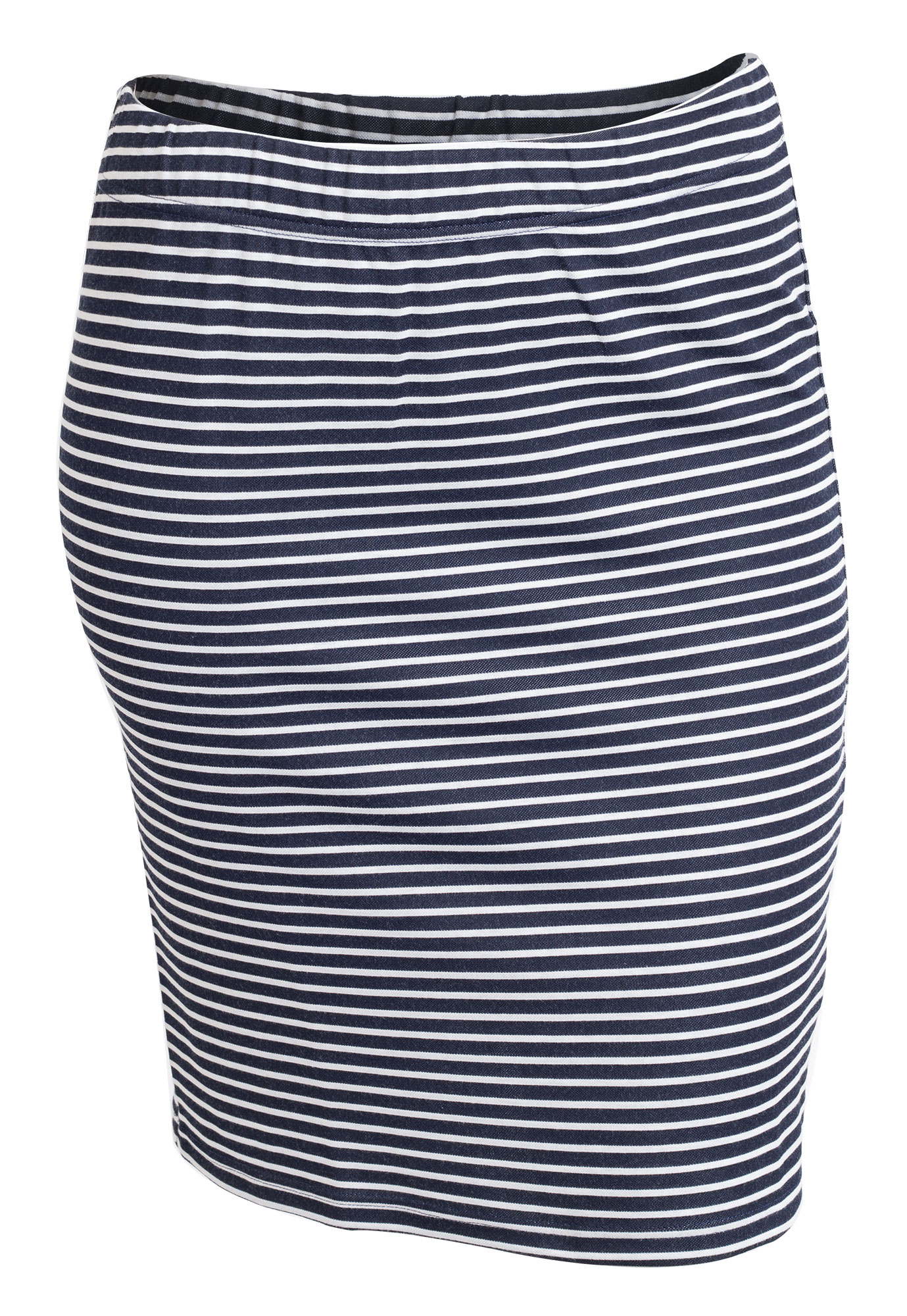 Klassisk marineblå nederdel med hvide striber