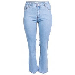 Fit 42 jeans i lyseblå denim med stretch