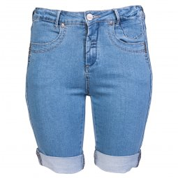 Lange shorts i lys blå denim