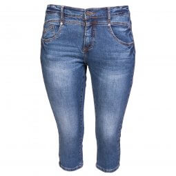 Denim capri bukser i Fit 55 model