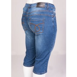 Denim capri bukser i Fit 42 model