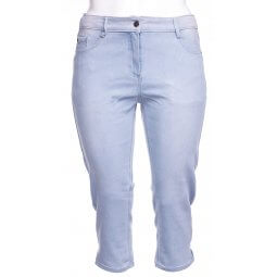 Stump-leggings buks i lys vasket denim