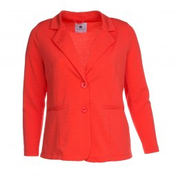 Orange blazer jakke med revers krave