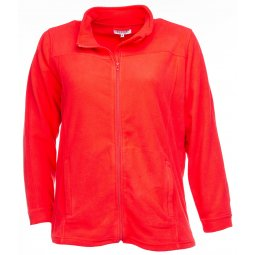 Orange fleece jakke i kort model