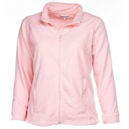 Rosa fleece jakke i kort model