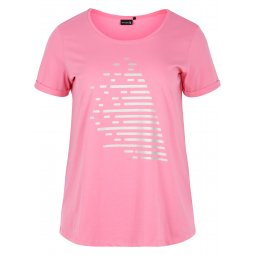 Pink fitness t-shirt i 100% Bomuld