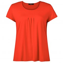 Mørk orange basis T-shirt i lækker viskosejersey