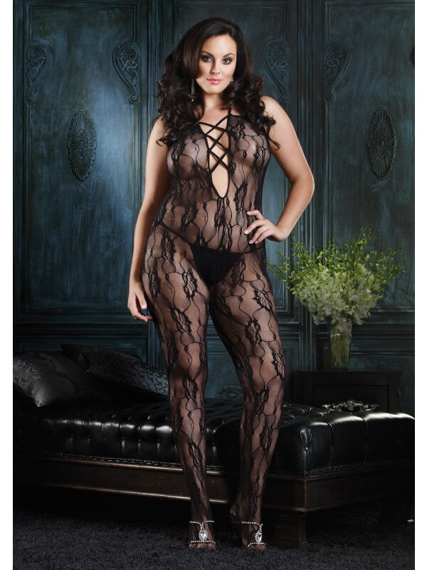 Sort Bodystocking i blonde fra Paris