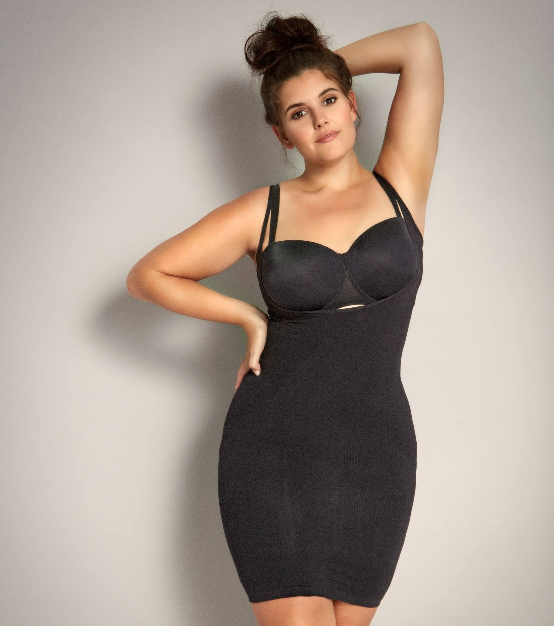 Sort shapewear torsette / lang top