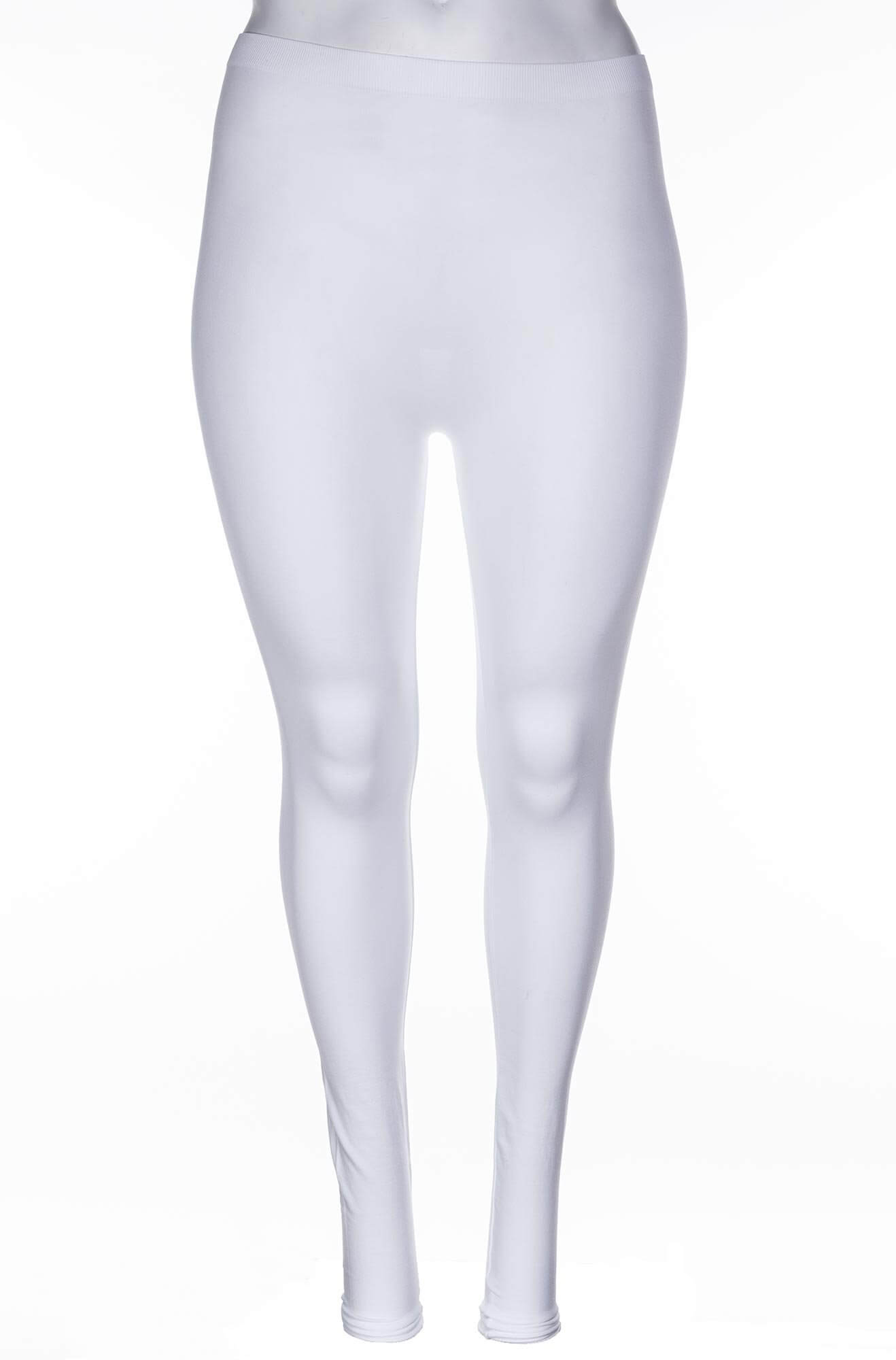 Hvide microfiber leggings