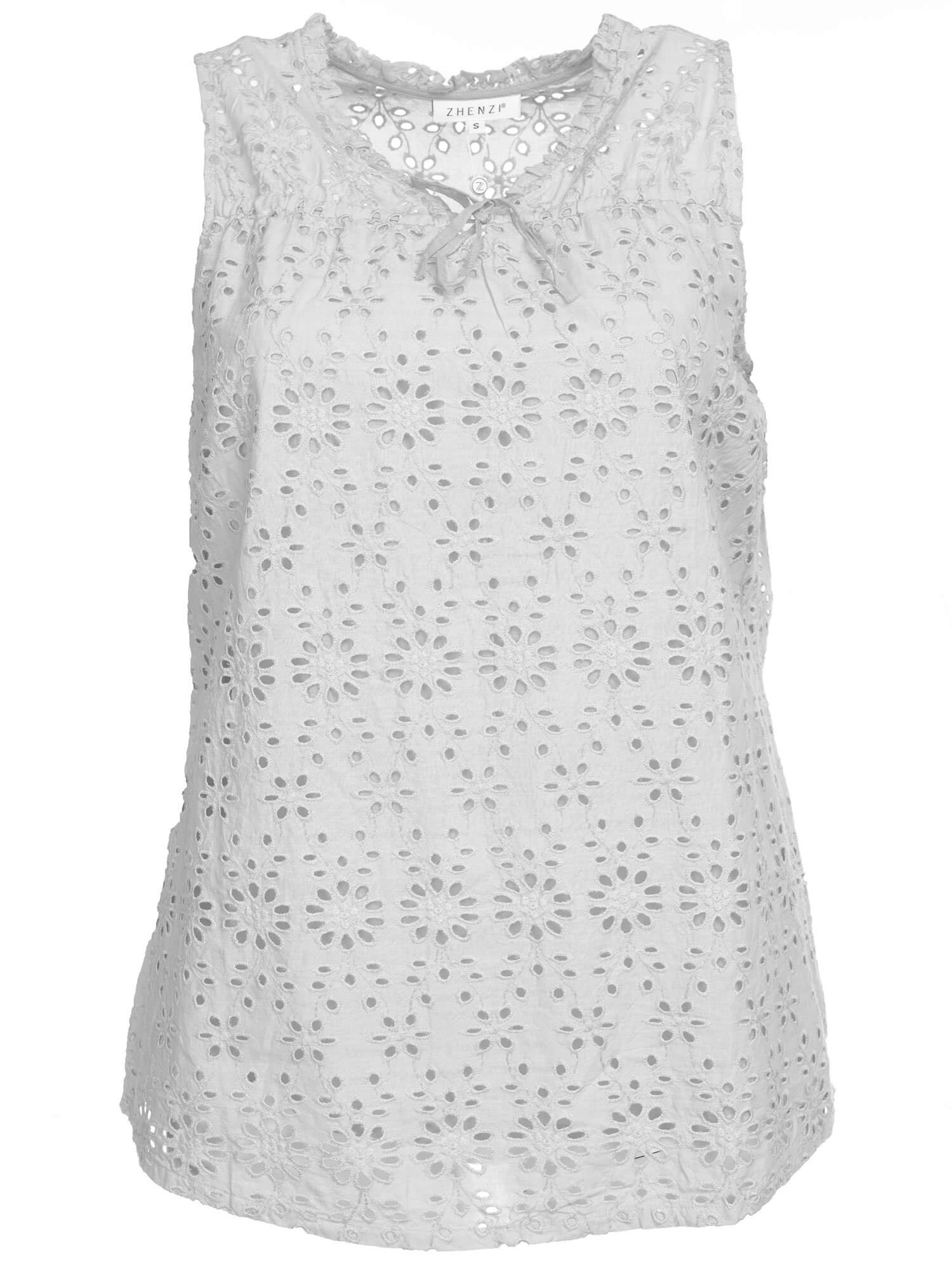 Hvid broderie anglaise top
