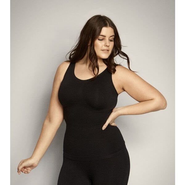 Sort shapewear top fra Zhenzi