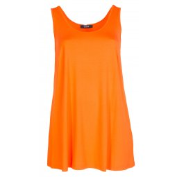 Lang orange top i viskose jersey