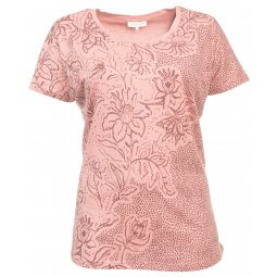 Rosa t-shirt med blomsterprint
