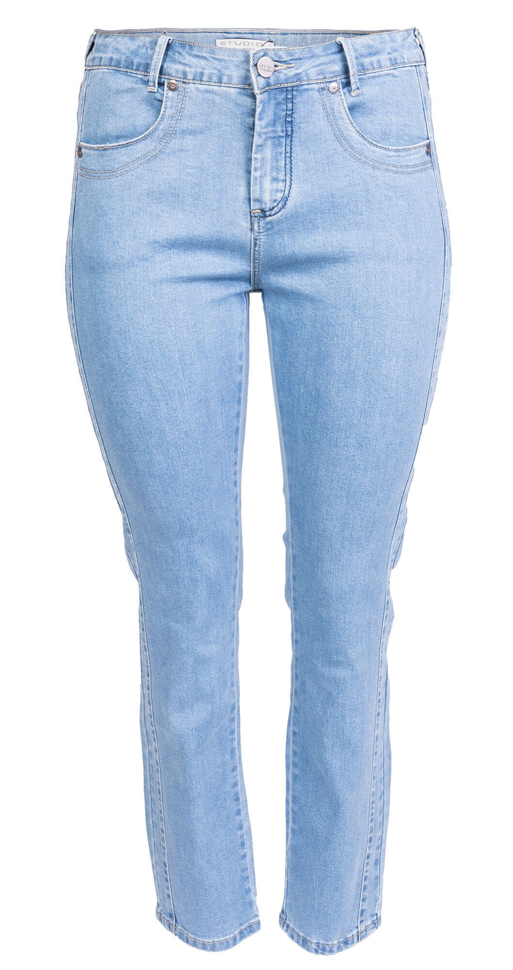 Fit 55 jeans i lyseblå denim med stretch