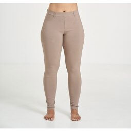 Khaki farvede leggings med stretch
