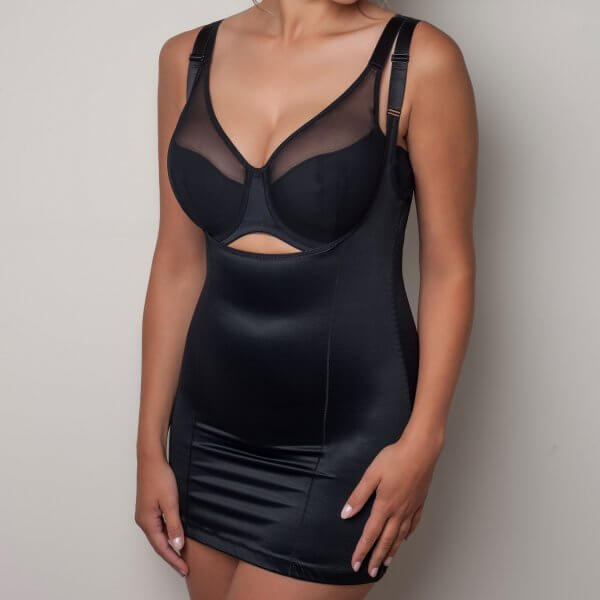 Sort body top shapewear kort model fra Plaisir