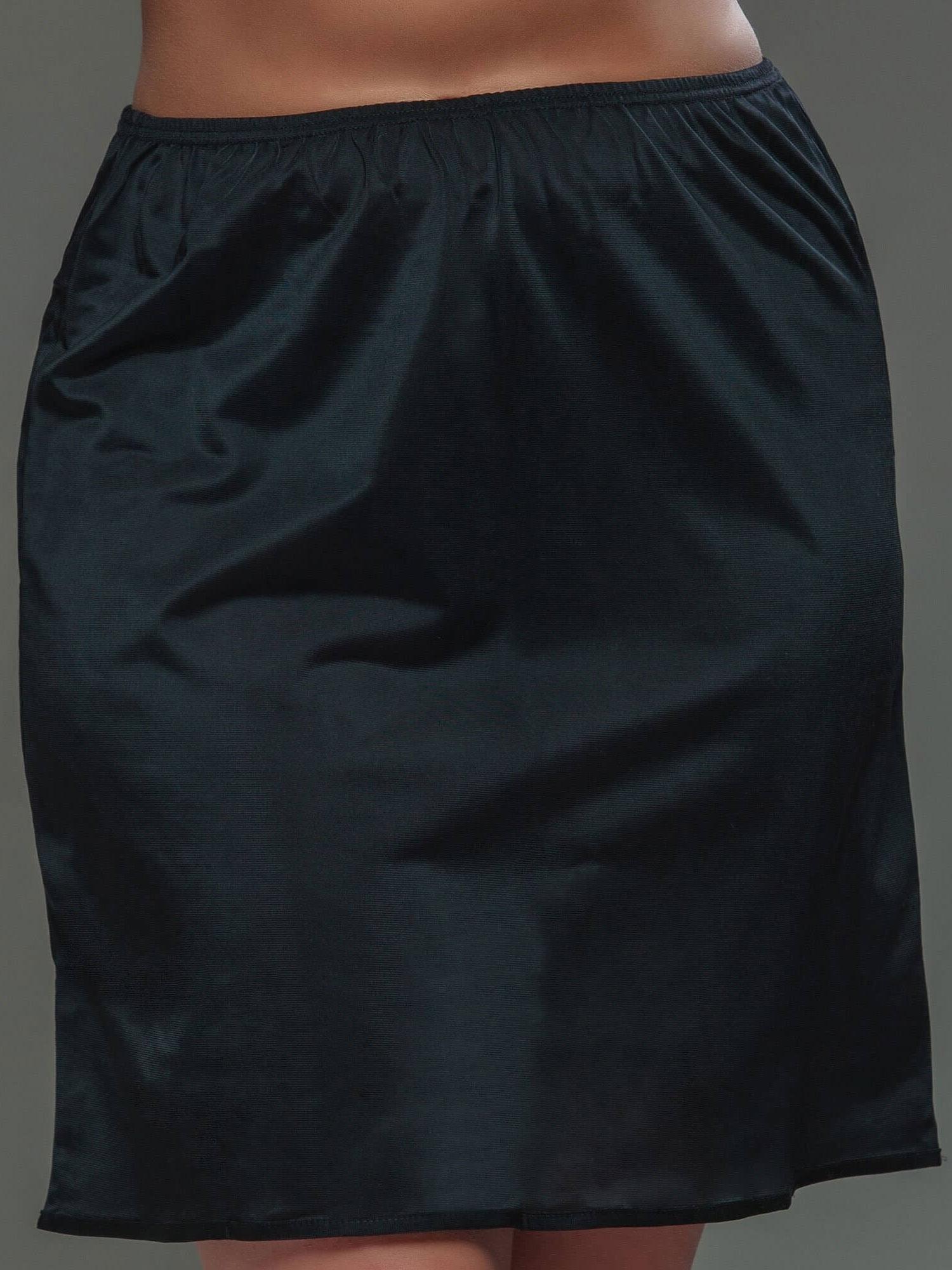 Plaisir Kort sort underskørt i store størrelser, 40 / S