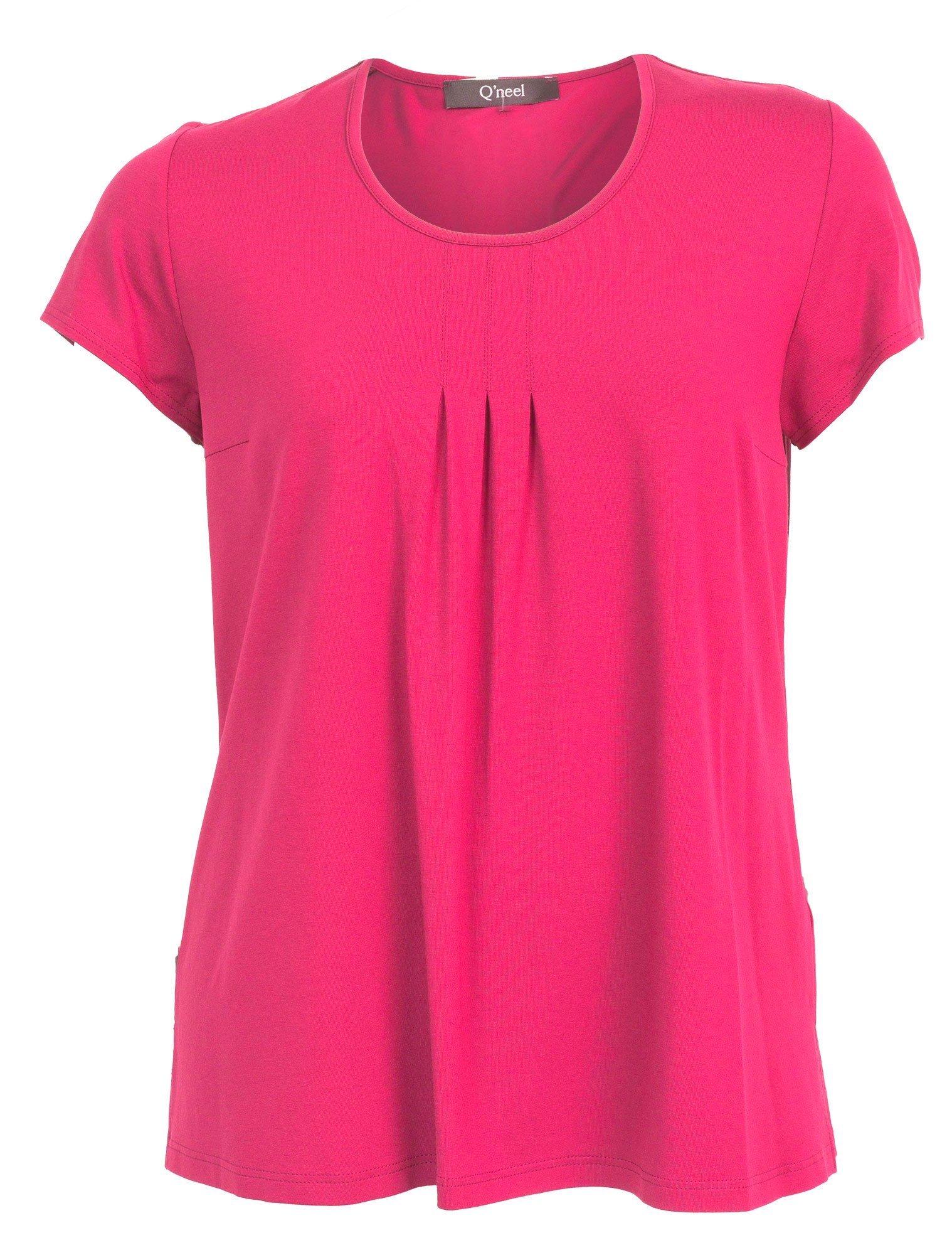Basis t-shirt i flot pink farve