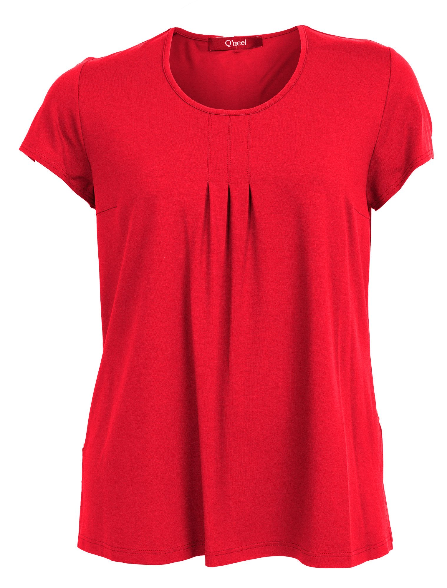 Basis t-shirt i flot rød farve