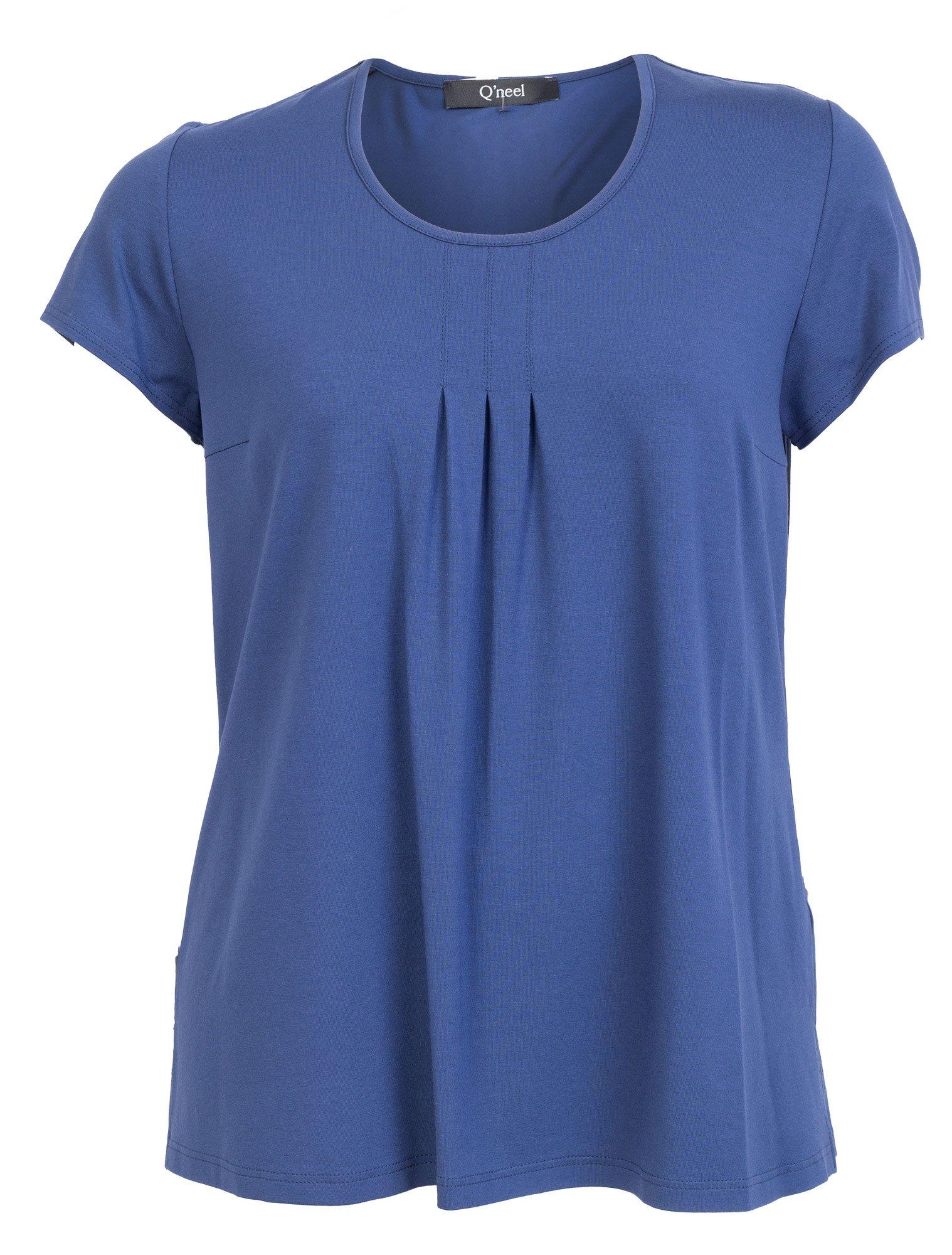 Blå bluse / t-shirt i lækker viskose jersey