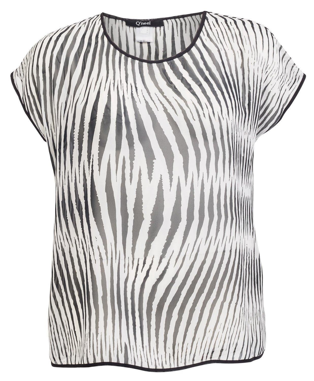 Let bluse med zebra striber