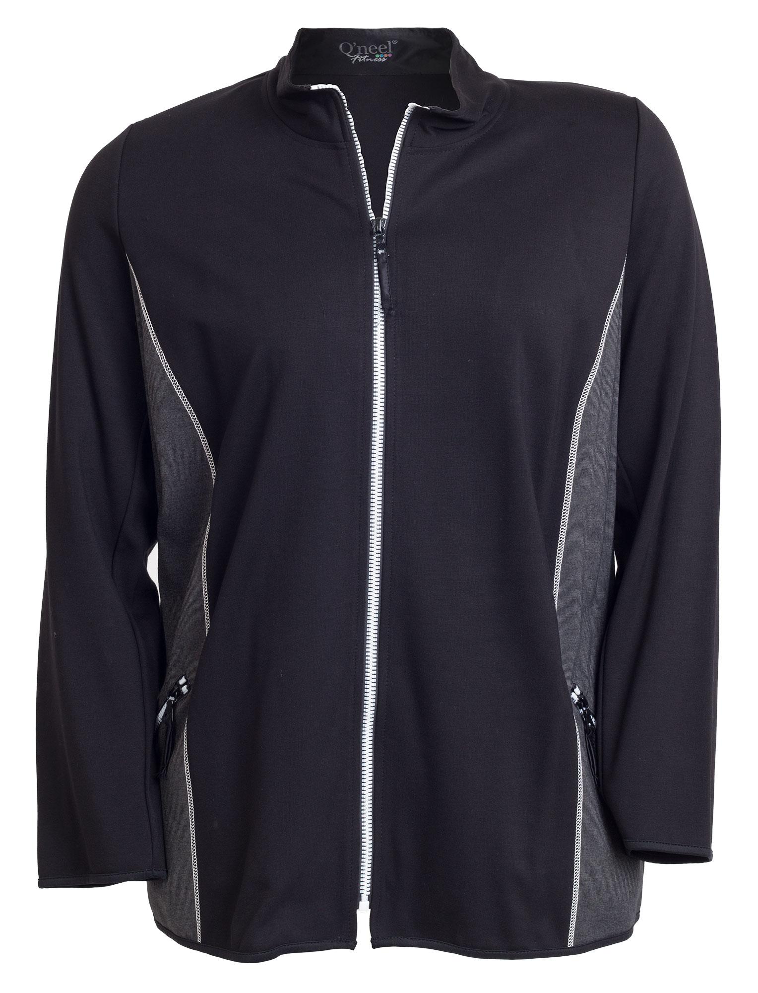 Fitness jakke i sort og grå