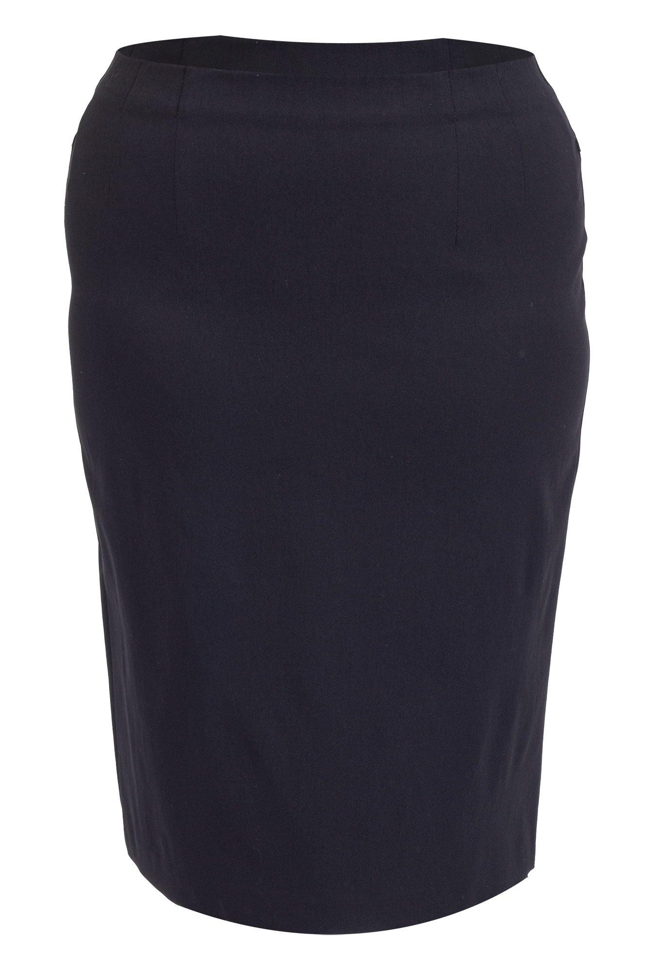 Klassisk sort nederdel i store størrelser
