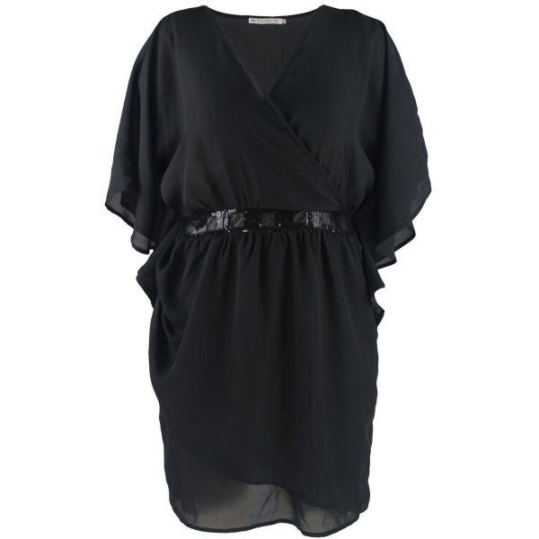 Sort kimono kjole