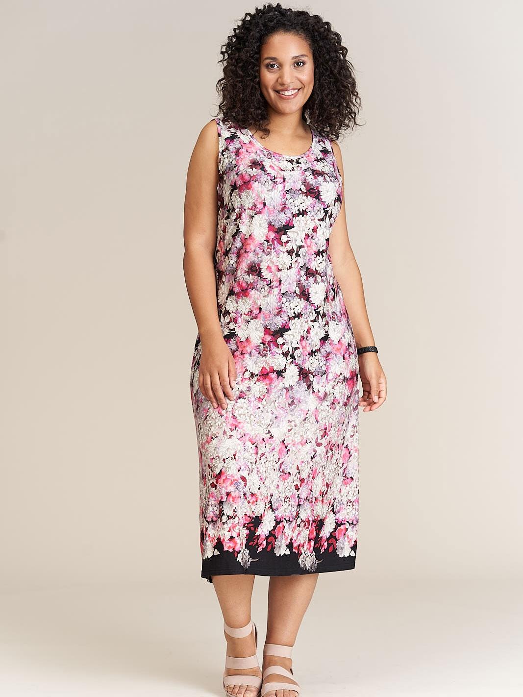 Studio Lang kjole med pin blomsterprint , 42-44 / S