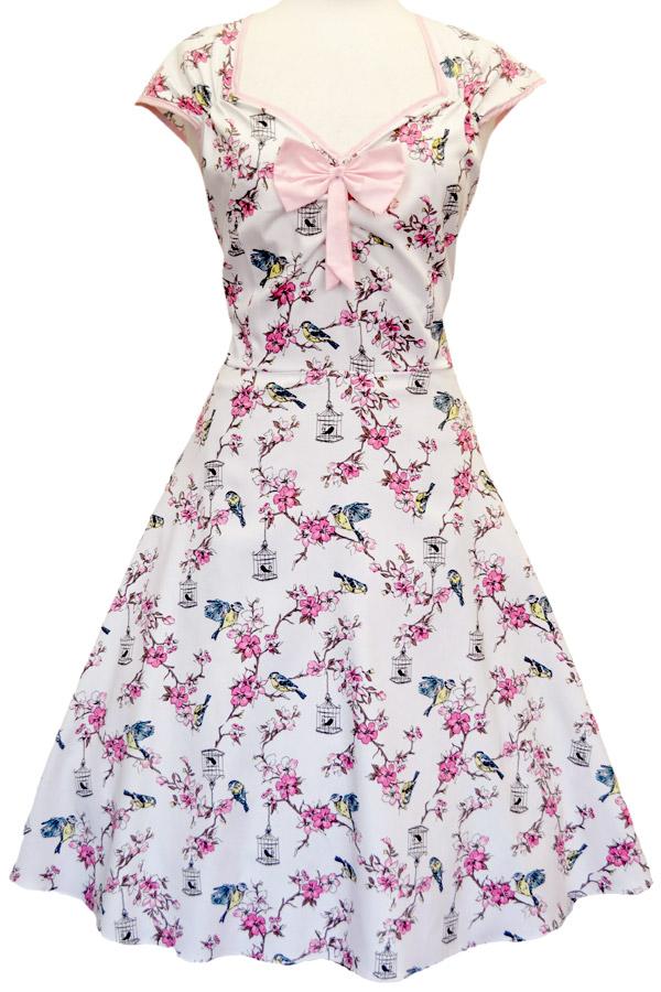 Birdcage cremefarvet kjole