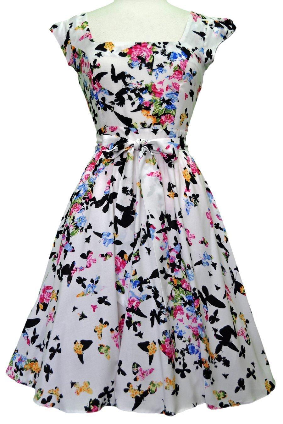 Sommerfulge swing kjole