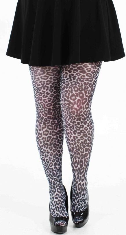 Strømpebukser med leopard print