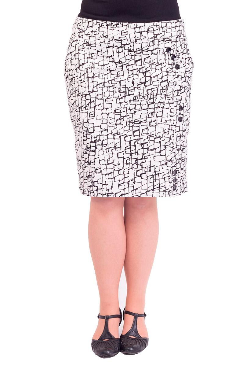 Nederdel med grafisk mønster i sort og hvid